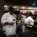 George and staff from the Sushi Bar in the Crown Plaza Hotel in Hotel Circle... San Diego, California.