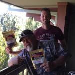 Tom Jara and Jordan Drake can't get enough Jeff's Famous Jerky!