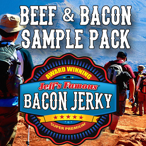 Wholesale beef jerky and wholesale bacon jerky samples