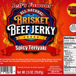 Spicy Teriyaki brisket beef jerky